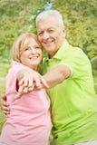 Glückliche alte Leute Stockfoto