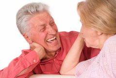 Glückliche alte Paare Stockfotos