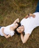 Glückliche asiatische Paare Stockfotografie