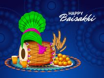 Glückliche Baisakhi-Punjabi-Festival-Feier stock abbildung