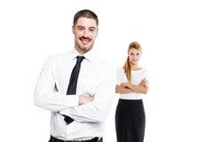 Glückliche beiläufige Geschäfts-Paare Lizenzfreie Stockfotografie