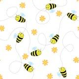 Glückliche Bienen Stock Abbildung