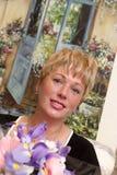 Glückliche blonde Frau Lizenzfreie Stockbilder