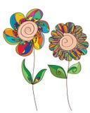 Glückliche Blume lokalisiert Lizenzfreies Stockfoto