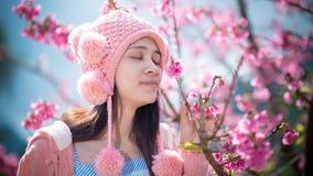 Glückliche Blumen und Schönheit Stockfotografie