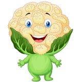 Glückliche Blumenkohlkarikatur lizenzfreie abbildung