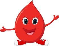 Glückliche Blutkarikatur Lizenzfreie Stockfotografie