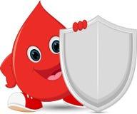 Glückliche Blutschutzkarikatur Lizenzfreie Stockfotos