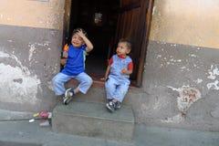 Glückliche Brüder Stockfotografie