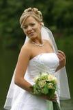 Glückliche Braut stockbilder