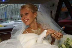Glückliche Braut stockfotos