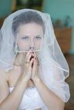 Glückliche Braut auf Hochzeit Lizenzfreie Stockfotografie