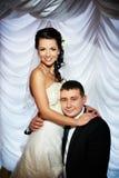 Glückliche Braut und Bräutigam Lizenzfreies Stockfoto