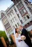 Glückliche Braut und Bräutigam Stockbild