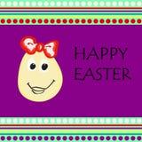 Glückliche bunte Grußkarte Ostern herein Lizenzfreie Stockfotos