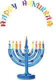 Glückliche Chanukka-Feiertagsillustration in Israel-Staatsangehörigem färbt Stockbild