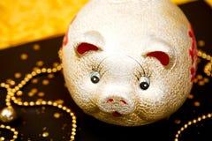 Glückliche chinesische neues Jahr 2019 chinesische Übersetzung Jahr des Goldschweins stockfoto