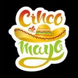 Glückliche Cinco De Mayo-Grußkarte Stockbild