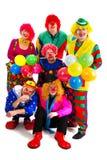 Glückliche Clowne Lizenzfreie Stockfotografie