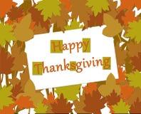 Glückliche Danksagungs-Herbst-Gruß-Anmerkungs-Karte Lizenzfreie Stockfotos