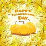 Glückliche Danksagungs-Tageskarte Lizenzfreies Stockbild