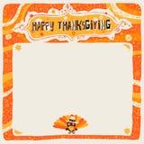 Glückliche Danksagungspostkarte, -plakat, -hintergrund, -verzierung oder -einladung Lizenzfreies Stockfoto