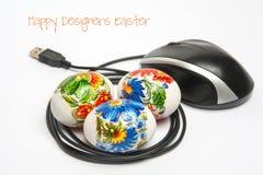 Glückliche Designer Ostern Lizenzfreie Stockbilder