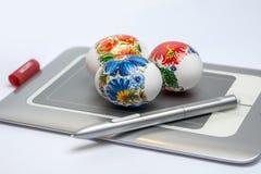 Glückliche Designer Ostern Stockbild