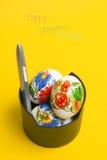 Glückliche Designer Ostern Stockfotos