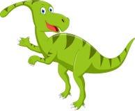 Glückliche Dinosaurierkarikatur Stockbild