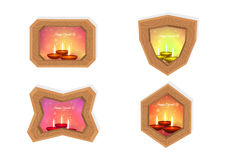Glückliche diwali Rahmen Stockbilder