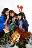 Glückliche drei Freunde Stockfoto