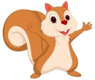 Glückliche Eichhörnchenkarikatur Stockfoto
