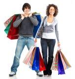 Glückliche Einkaufenleute Stockfoto