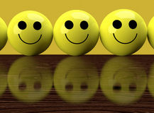 Glückliche Emoticons Stockfoto