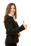 Glückliche erfolgreiche Geschäftsfrau Lizenzfreies Stockbild