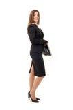 Glückliche erfolgreiche Geschäftsfrau Stockfotos