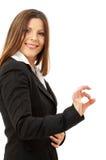 Glückliche erfolgreiche Geschäftsfrau Lizenzfreies Stockfoto