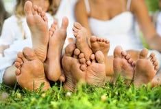 Glückliche Füße Stockbild