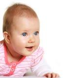 Glückliche fünf Monate alte Schätzchenportrait Lizenzfreies Stockfoto