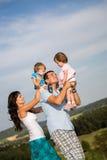 Glückliche Familie Stockfoto