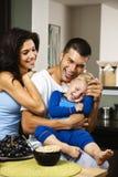 Glückliche Familie. Lizenzfreie Stockfotografie