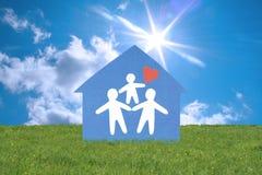 Glückliche Familie. Lizenzfreies Stockfoto