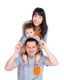 Glückliche Familie Asiens stockbild