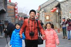 Glückliche Familie in der Reise Lizenzfreie Stockfotografie