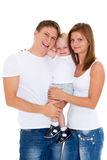 Glückliche Familie mit Baby. Lizenzfreie Stockfotos