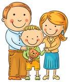 Glückliche Familie mit einem kleinen Sohn Lizenzfreie Stockfotografie