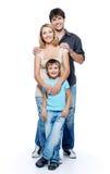 Glückliche Familie mit Kind lizenzfreie stockbilder