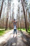 Glückliche Familie mit Kind Stockfotografie