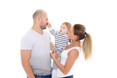 Glückliche Familie mit Schätzchen Stockbild